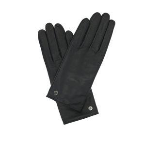 Tommy Hilfiger dámské černé kožené rukavice