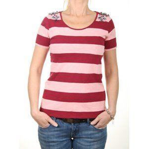 Pepe Jeans dámské pruhované tričko Isa - XS (299BURG)