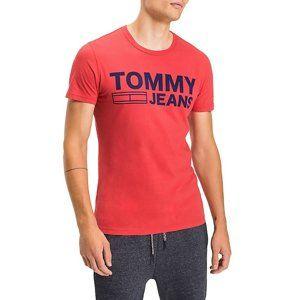 5e49adf451 Tommy Hilfiger pánské červené tričko Basic