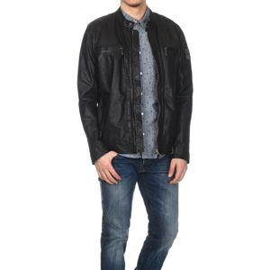 Pepe Jeans pánská černá kožená bunda Sean - XXL (999)