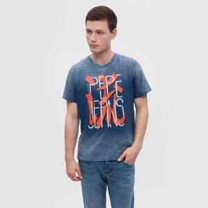 Pepe Jeans pánské modré tričko Holen - XXL (533)